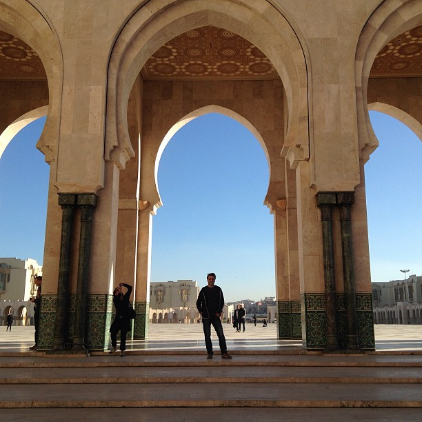 Standing in the arches at the #mosque at #Casablanca December 29, 2012 at 0749PM