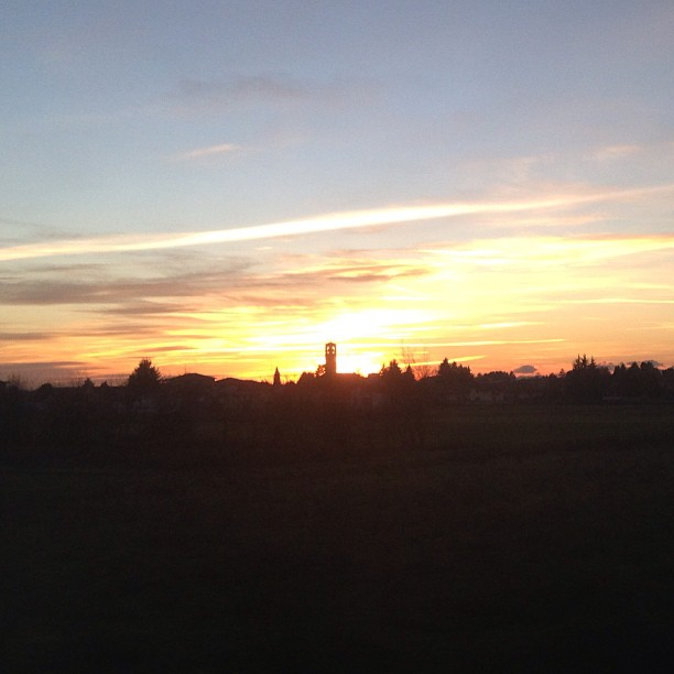 Welcome back to #Italy - #sunset snapped from the #train yesterday December 29, 2012 at 1133AM