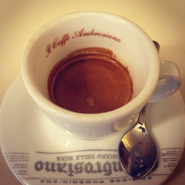 Afternoon #espresso. #italy #coffee January 24, 2013 at 0236PM