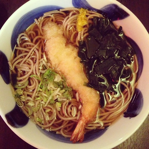 Ebi soba for the soul ) making my stomach happier January 12, 2013 at 0313PM