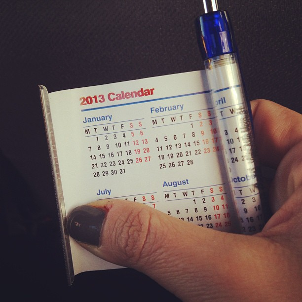 Love. A pullout #calendar tucked inside a pen. #italy January 05, 2013 at 1159AM