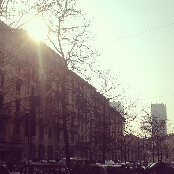 That feeling when the sun hits your eyes and you squint with pleasure. #sunday #milan #italy January 27, 2013 at 0104PM