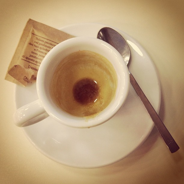 Fighting jet lag part 1 an Italian #espresso as soon as I land. #coffee #Italy February 12, 2013 at 0746AM