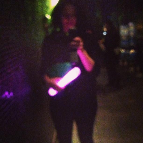 Friday night glowsticks. #lasvegas February 02, 2013 at 1122AM