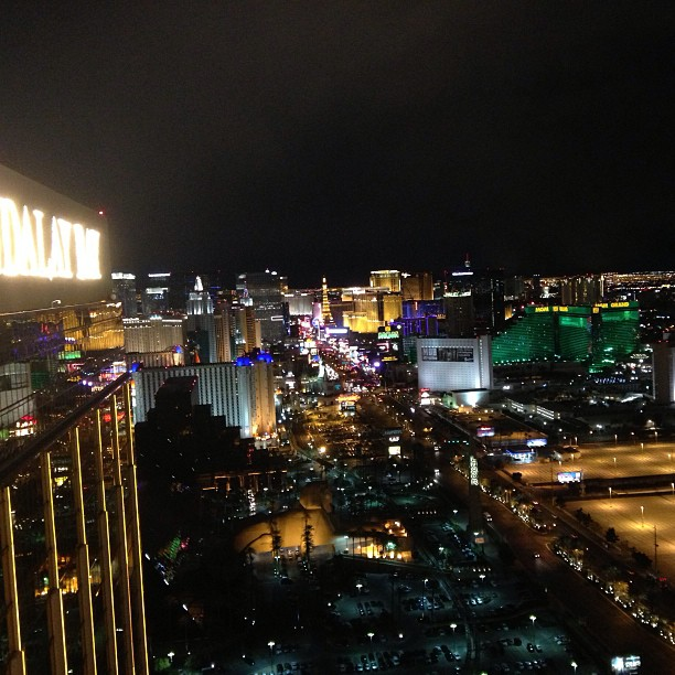 Leaving #lasvegas. The strip looks the same at any hour of the night. February 11, 2013 at 0337PM