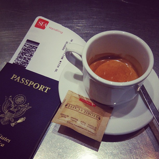 #London calling, very early.  Post-security #espresso  LHR #italy February 19, 2013 at 0637AM