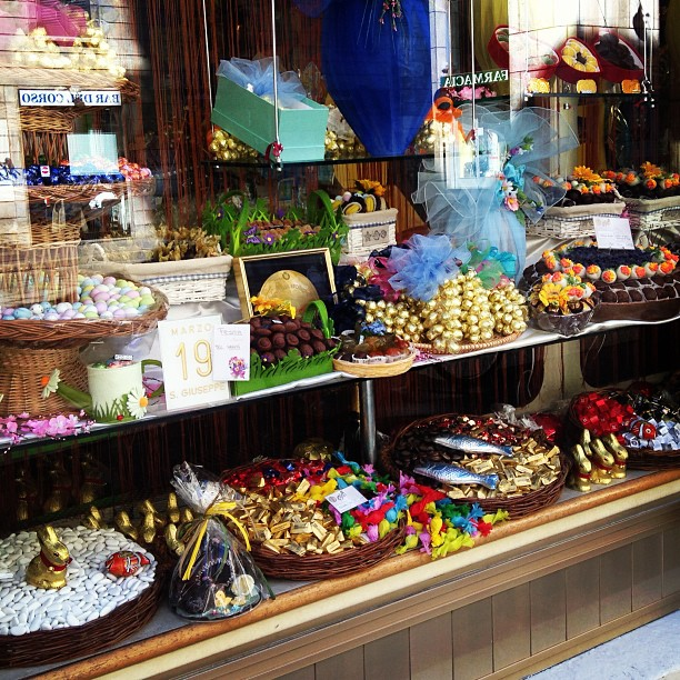#Easter candy display in #Milan. Love the colors. Want it all! #Italy March 19, 2013 at 0526PM