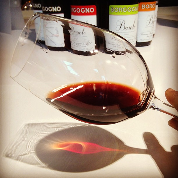 Tasting #Barolo in Barolo. Borgogno 1998. Heavy mushroom & meatstall undertones #italy #vino #wine March 30, 2013 at 1155AM