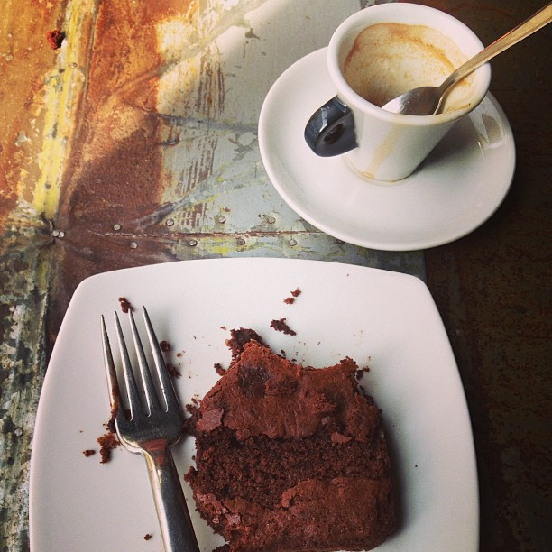 It's an #espresso and chocolate cake kind of Saturday morning. #coffee #italy April 06, 2013 at 1134AM