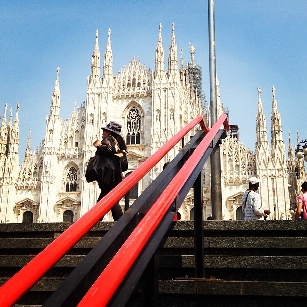 Love An amazing view of the Duomo in #Milan greets you as you exit the metro. #italy April 18, 2013 at 1227PM
