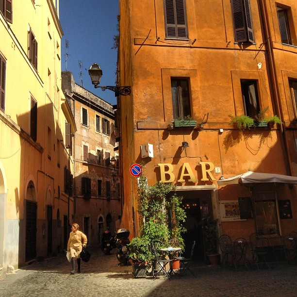 Bar in my old home.  #Trastevere #Rome #Italy June 22, 2013 at 0434PM