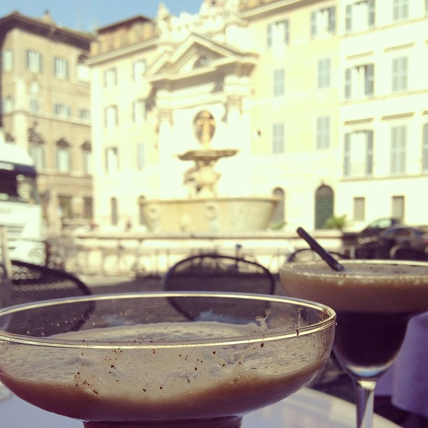 Caffè shakerato with a view. #Rome #Italy #coffee June 20, 2013 at 0315PM